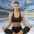 yoga · mujer · fitness · nina · blanco · meditación - foto stock © carlodapino