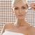女性 · 香水 · 首 · 画像 · 美人 · 笑顔 - ストックフォト © carlodapino