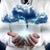Cloud · Computing · Flussdiagramm · Geschäftsmann · Skyline · Business · Himmel - stock foto © carloscastilla