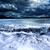 sötét · felhős · viharos · égbolt · felhők · hullámok - stock fotó © carloscastilla