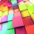 3d colored cubes background stock photo © carloscastilla