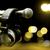 vintage · Spotlight · błyszczący · mikrofon · tle · przestrzeni - zdjęcia stock © carloscastilla