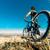 dağ · bisikleti · genç · manzara · dağ · spor · uygunluk - stok fotoğraf © carloscastilla