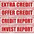 crédito · conjunto · selos · texto · assinar · financiar - foto stock © carmen2011