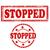 stoppen · Rood · stempel · tekst · criminaliteit · protest - stockfoto © carmen2011