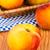 fresco · pêssegos · cesta · mesa · de · madeira · comida · fruto - foto stock © Carpeira10