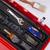 boîte · à · outils · clé · à · molette · propre · plastique · isolé · blanche - photo stock © cboswell
