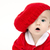 zuigeling · jongen · naar · Rood · hoed · cute - stockfoto © cboswell