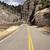 scivoloso · ghiacciato · strada · giallo · line · strada - foto d'archivio © cboswell