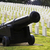 large military cannon stands enlisted men cemetery headstones bu stock photo © cboswell