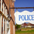 police department sign small rural town america stock photo © cboswell