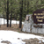fresh snow stands around the sign at wallowa whitman national fo stock photo © cboswell