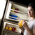 meia-noite · tarde · noite · mulher · jovem · comida - foto stock © cboswell
