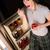 éjfél · késő · éjszaka · falatozó · fiatal · nő · étel - stock fotó © cboswell