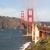Golden · Gate · Bridge · reflexões · praia · San · Francisco · Califórnia · EUA - foto stock © cboswell