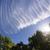 branco · condensação · trilha · jato · azul · blue · sky - foto stock © cboswell