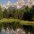 evergreen · alberi · bella · montagna · nubi - foto d'archivio © cboswell