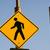 Blauw · voetganger · teken · geïsoleerd · witte · straat - stockfoto © cboswell