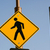 voetganger · teken · geïsoleerd · witte · Blauw · snelweg - stockfoto © cboswell