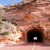 highway 9 zion park blvd tunnel through rock mountain stock photo © cboswell