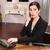 удивленный · счастливым · молодые · деловая · женщина · сидят · таблице - Сток-фото © cboswell