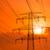 elektromos · narancs · égbolt · napfelkelte · felhők · fém - stock fotó © cherezoff