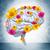 human brain with flowers stock photo © cherezoff