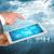 tablet · virtueel · wereldkaart · lijnen · Blauw · kaart - stockfoto © cherezoff