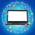 черный · портативного · компьютера · иконки · синий · ноутбука · аннотация - Сток-фото © cherezoff