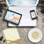 laptop · oude · beton · oppervlak - stockfoto © cherezoff