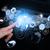 車 · フロント · パネル · ホログラフィック · 画面 · 人の手 - ストックフォト © cherezoff