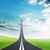 doel · weg · pijl · woord · hemel · wolken - stockfoto © cherezoff