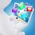 3D · fehér · férfi · ül · laptop · alkalmazás · ikonok - stock fotó © cherezoff
