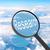 увеличительное · стекло · глядя · исследований · облака · бизнеса · свет - Сток-фото © cherezoff