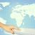 vinger · aanraken · toetsenbord · wereldkaart · abstract · kleurrijk - stockfoto © cherezoff