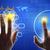 handen · aanraken · holografische · scherm · wereldkaart - stockfoto © cherezoff