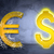 golden dollar and euro sign in spider web stock photo © cherezoff