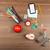 bevásárlókocsi · irodaszerek · persely · fa · asztal · fa · ceruza - stock fotó © cherezoff