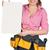 atractivo · constructor · mujer · blanco · camisa · cinturón - foto stock © cherezoff