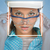 mooie · bouwer · helm · bril · gezicht · lijnen - stockfoto © cherezoff