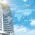 超高層ビル · チャート · 青空 · 市 - ストックフォト © cherezoff