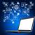 ноутбука · экране · иконки · черный · значки · компьютеров · синий - Сток-фото © cherezoff
