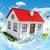 casa · verde · prado · blue · sky · primavera - foto stock © cherezoff