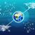 aarde · abstract · Blauw · wereldkaart · communie · afbeelding - stockfoto © cherezoff