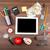 Piggy · Bank · калькулятор · Корзина · изолированный · белый · часы - Сток-фото © cherezoff