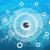 aarde · wereldbol · abstract · Blauw · communie · afbeelding - stockfoto © cherezoff