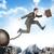 imagem · jovem · empresário · saltando · lacuna · carreira - foto stock © cherezoff