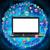 ноутбука · экране · значки · компьютеров · черный · синий · фон - Сток-фото © cherezoff