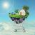 bevásárlókocsi · ház · kék · otthon · vásárlás · kosár - stock fotó © cherezoff