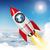 ruimte · vervoer · raket · russisch · hemel · sterren - stockfoto © cherezoff